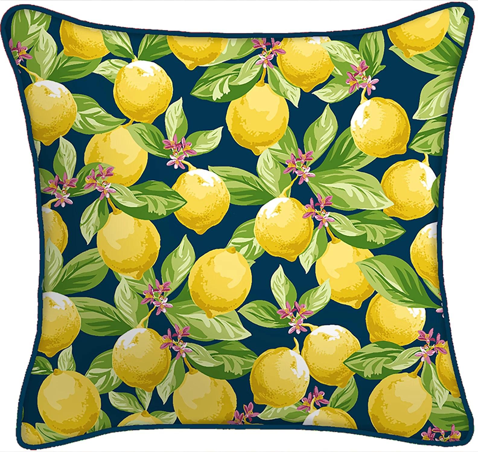mainstays lemon outdoor pillow