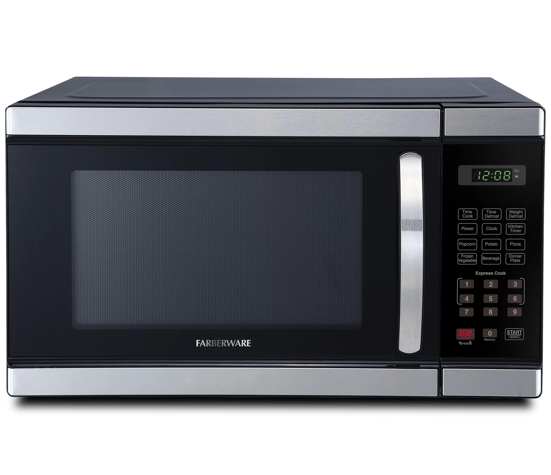 farberware professional 1 1 cu ft 1000 watt microwave oven stainless steel fmo11ahtbkm