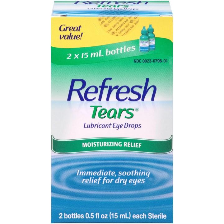 Refresh Lubricant Eye Drops Value Size Tears 2 5 Oz Bottles