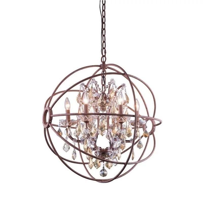 elegant lighting geneva 25 6 light royal crystal pendant lamp walmart com