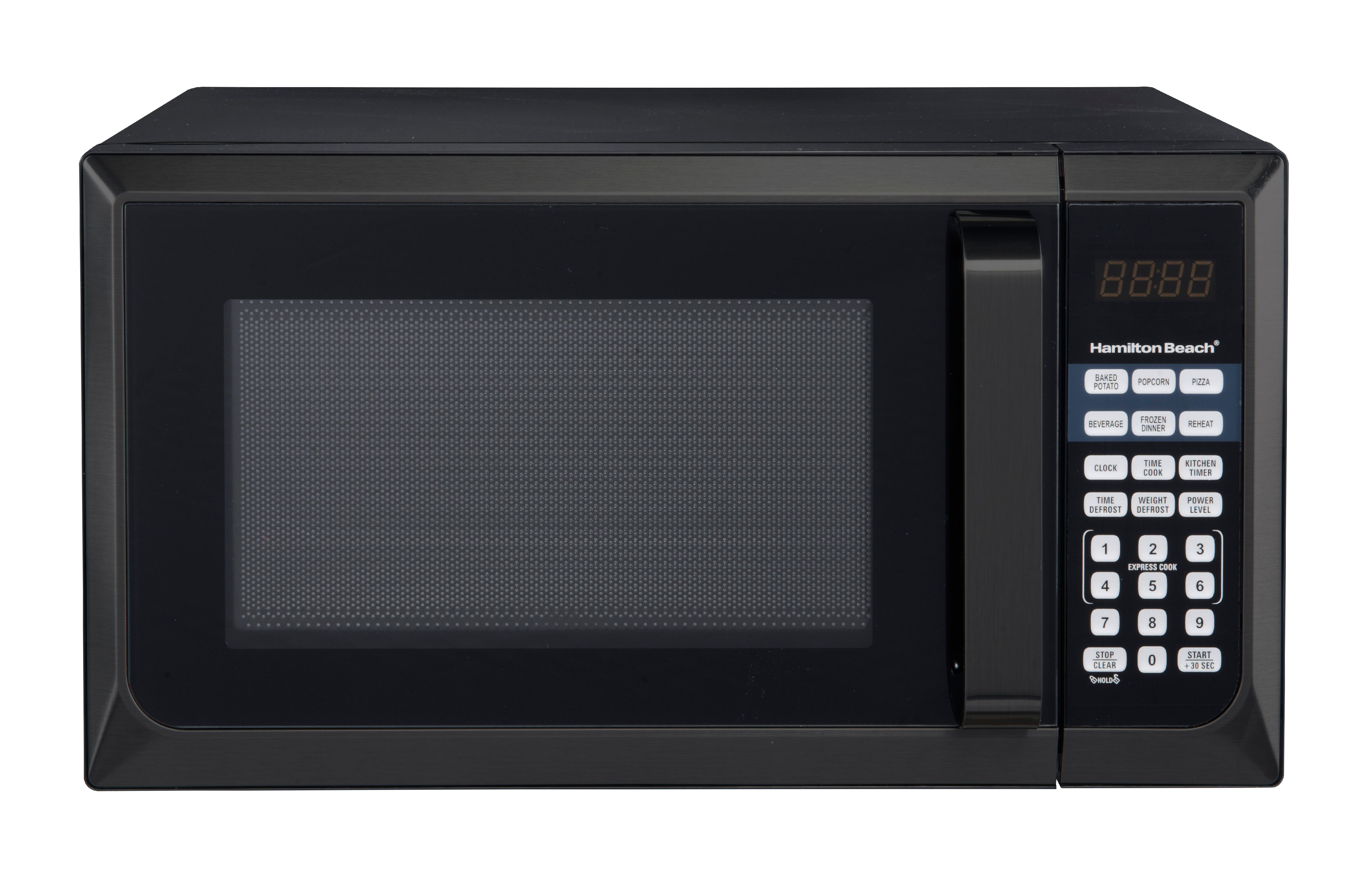 hamilton beach stainless steel 0 9 cu ft black microwave oven