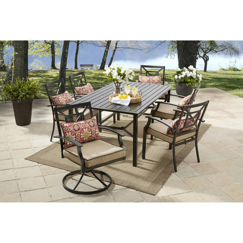 better homes gardens better homes and gardens carter hills 7 piece dining set tan from walmart accuweather