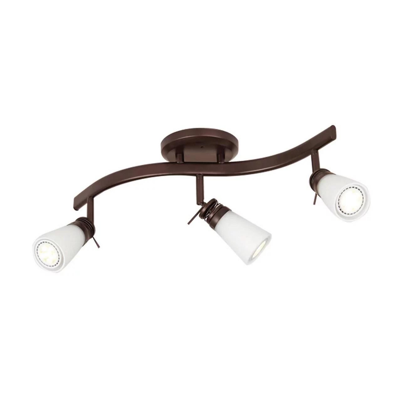 mainstays 3 light traditional track lighting set bronze