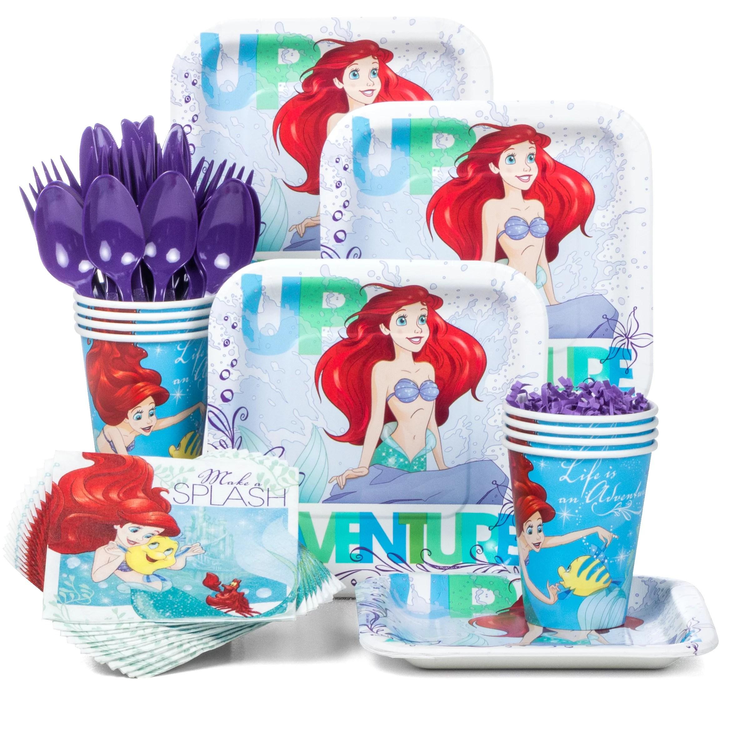 Little Mermaid Standard Kit Serves 8 Party Supplies Walmart Com Walmart Com