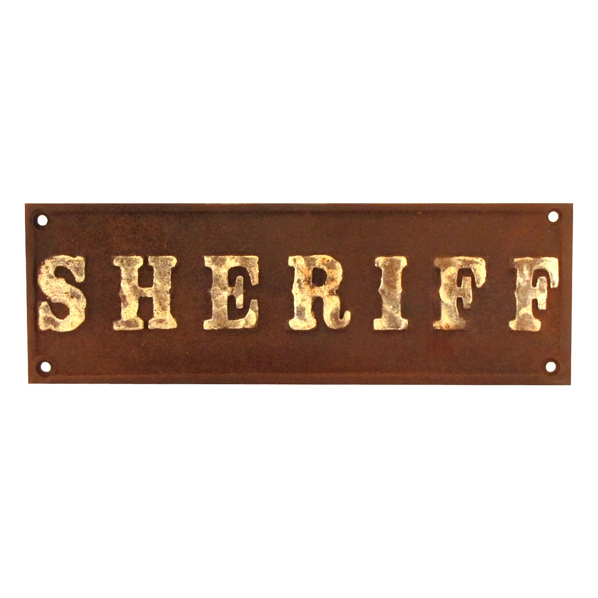 Cast Iron Sheriff Plaque Old West Hotel Saloon Style Sign Rustic Bar Cast Iron Sheriff Plaque Old West Hotel Saloon Style Sign Rustic Bar Wall Decor