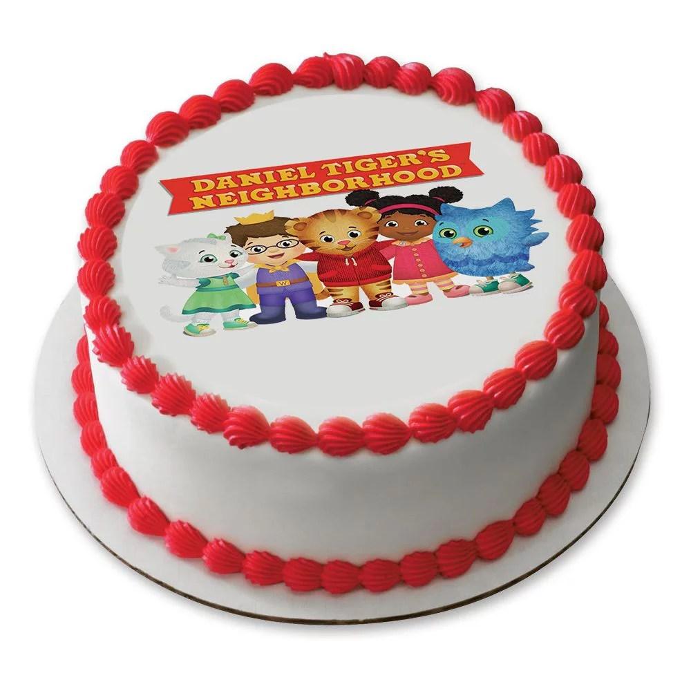 Daniel Tiger Neighborhood Friends 7 5 Round Edible Cake Topper Each Walmart Com Walmart Com