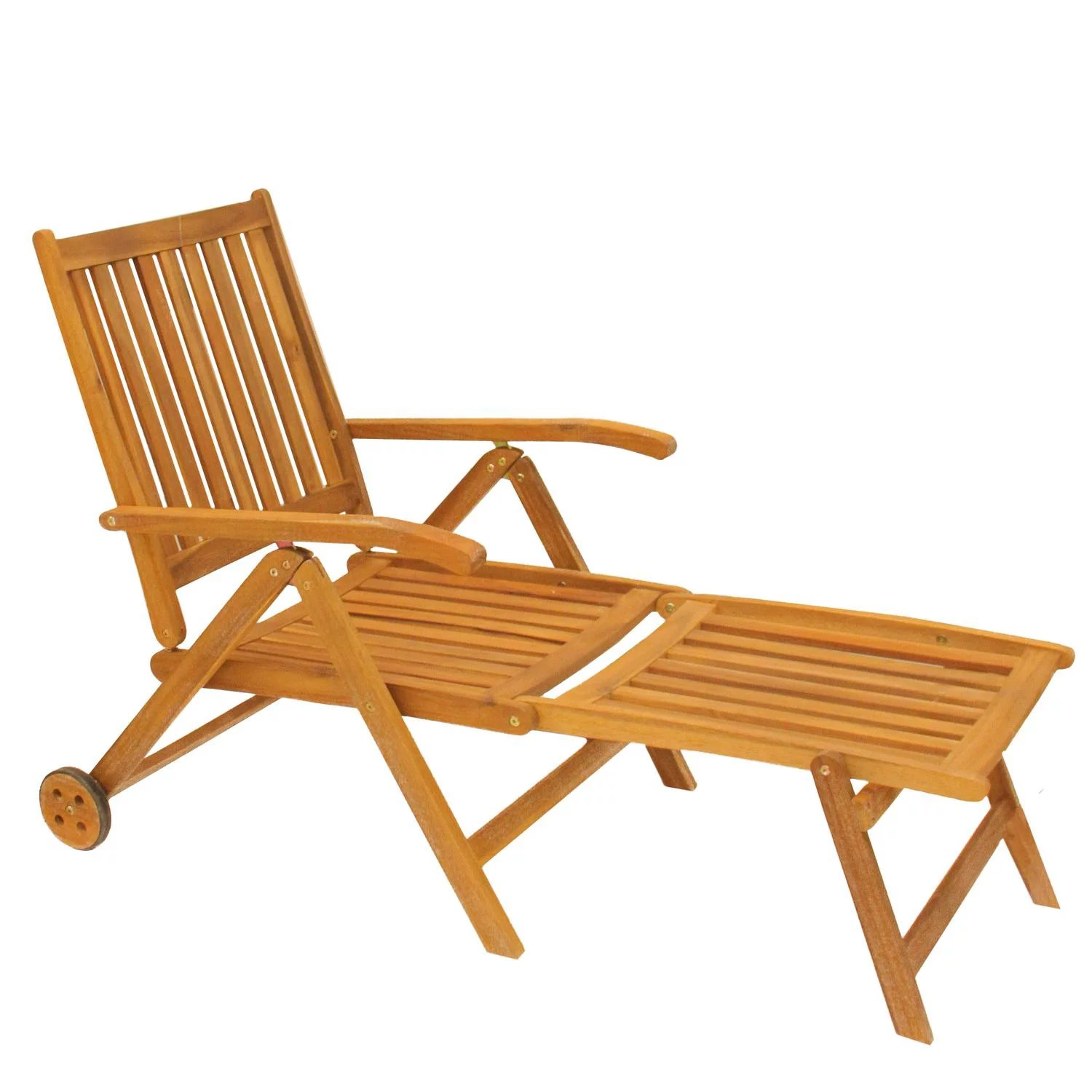 55 acacia wood outdoor patio chaise lounge chair