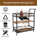 Wood Bar Cart With Wine Rack Marcuscable Com