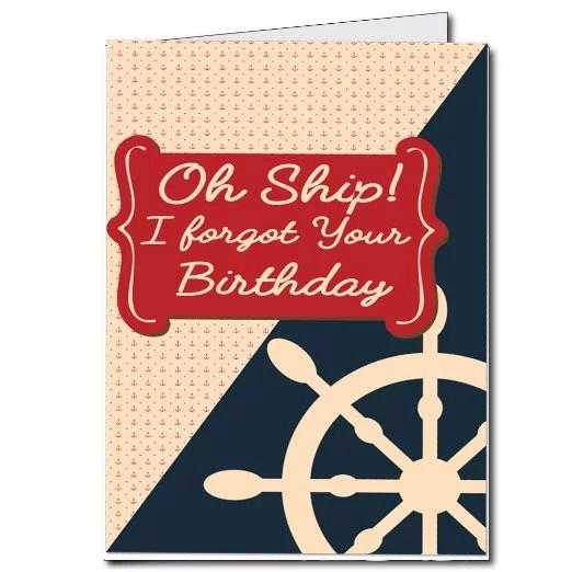 2 X3 Giant Belated Birthday Card Oh Ship I Forgot Your Birthday Walmart Com Walmart Com