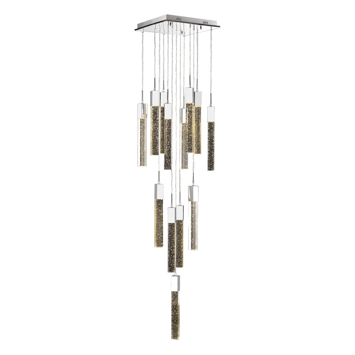 Pendants 13 Light Fixtures Elegant Design With Chrome Tone
