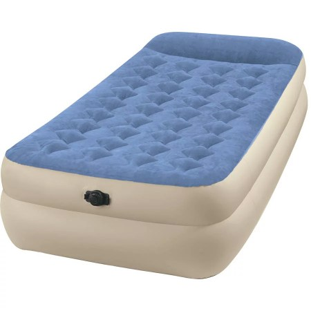 Intex Twin 18 Raised Pillow Rest Airbed Mattress With Built In