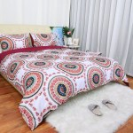 2 Pieces Boho Chic Mandala Pattern Printed Bedding Bedspread Coverlet Set For All Season Soft Microfiber Boho Quilt Coverlet For Girls Bohemian Quilt Set Twin Kids Furniture Decor Storage Toys