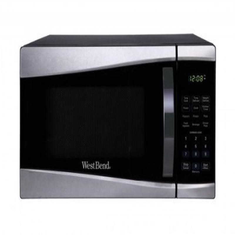 west bend wb 0 9 microwave stainless walmart com