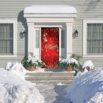 My Door Decor 285906xmas 007 36 X 80 In Red Ornaments Christmas Front Door Mural Sign Banner Decor 44 Multi Color Walmart Com Walmart Com