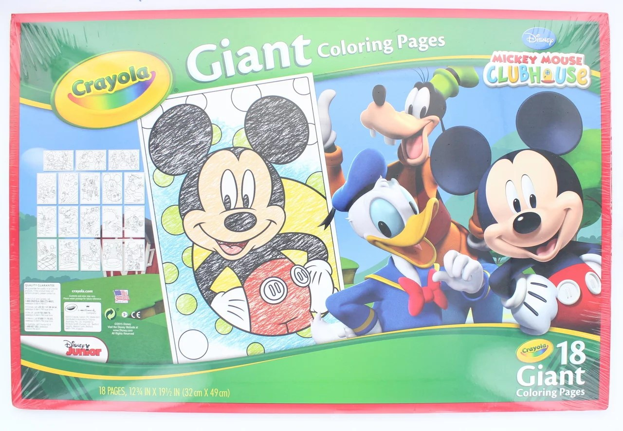 Crayola Giant Coloring Pages Mickey Mouse Walmart Com Walmart Com