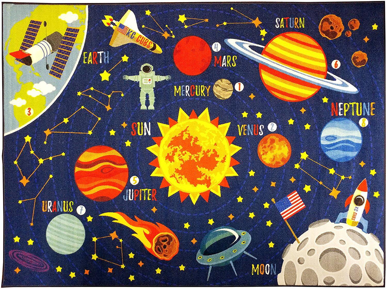 Kids Space Astronaut Planets Rocket Ship Educational