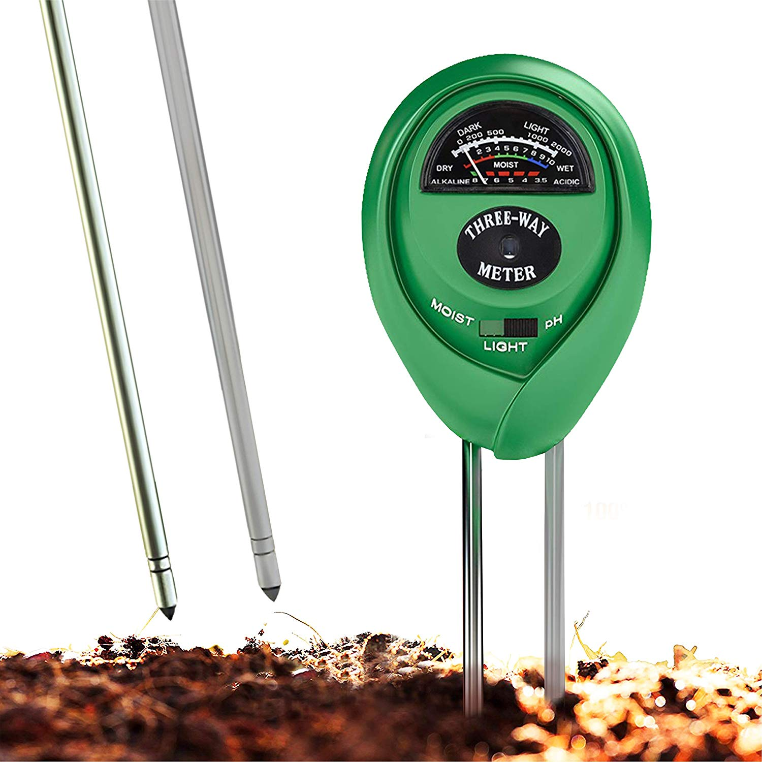 Soil Ph Meter 3 In 1 Soil Test Kit For Moisture Light And Ph Indoor And Outdoors Soil Tester With 100 Accuracy Walmart Com Walmart Com