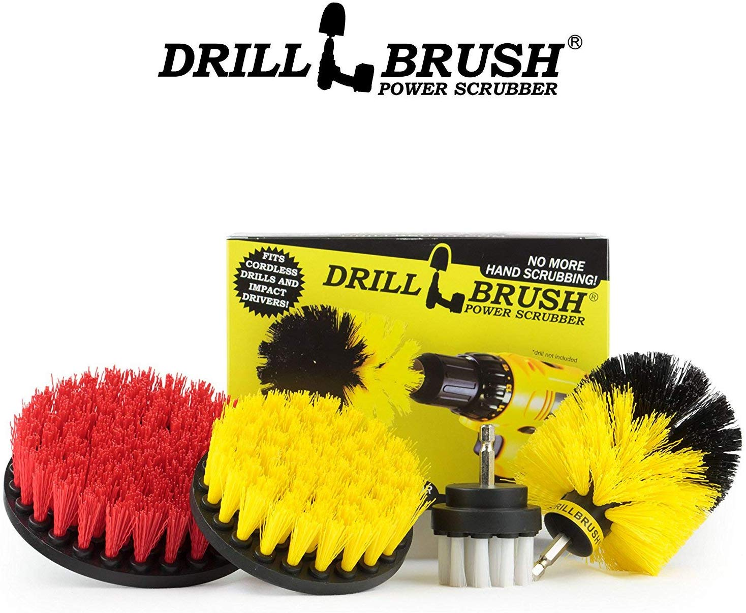 drillbrush scrub brush drill attachment kit drill powered cleaning brush attachments time saving cleaning kit great for cleaning pool tile