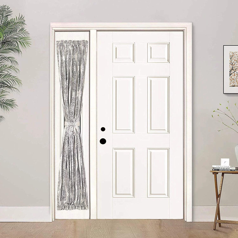 driftaway adrianne door curtain sidelight curtain thermal rod pocket room darkening privacy front door panel single curtain with bonus adjustable