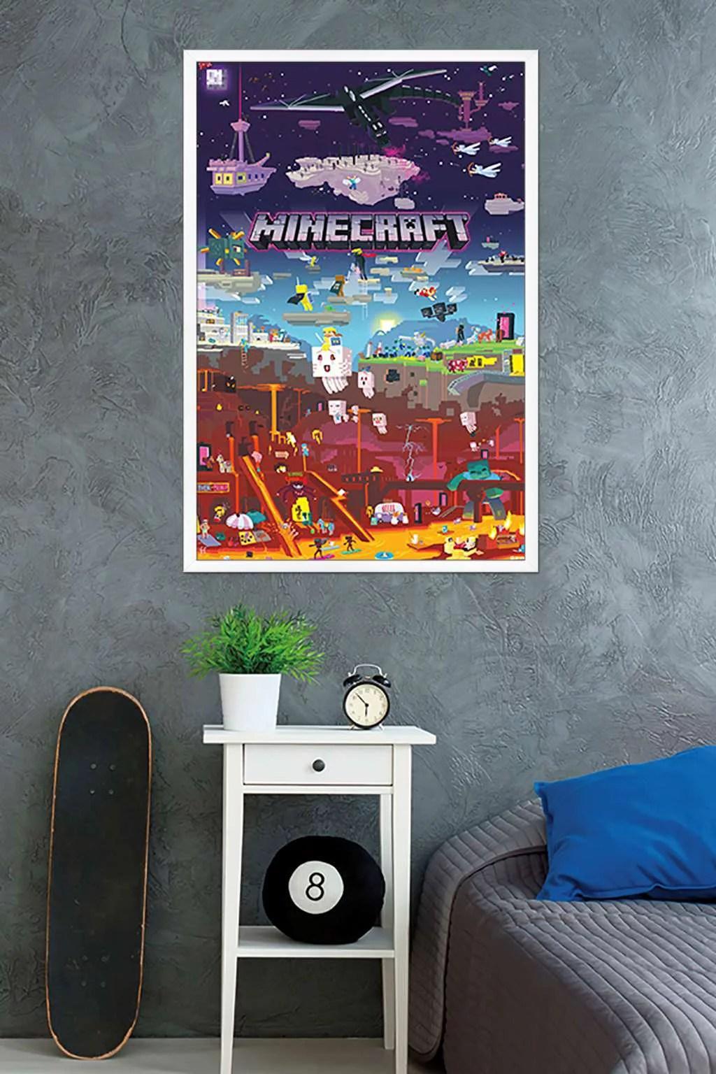 minecraft world beyond poster