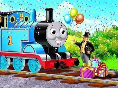 Thomas Train Edible Party 1 4 Sheet Image Frosting Cake Topper Decoration Birthday Walmart Com Walmart Com