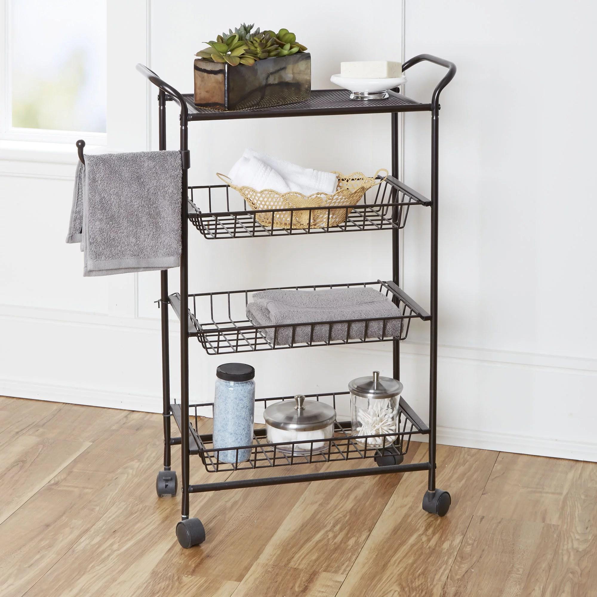 narrow bathroom storage cart - thedancingparent