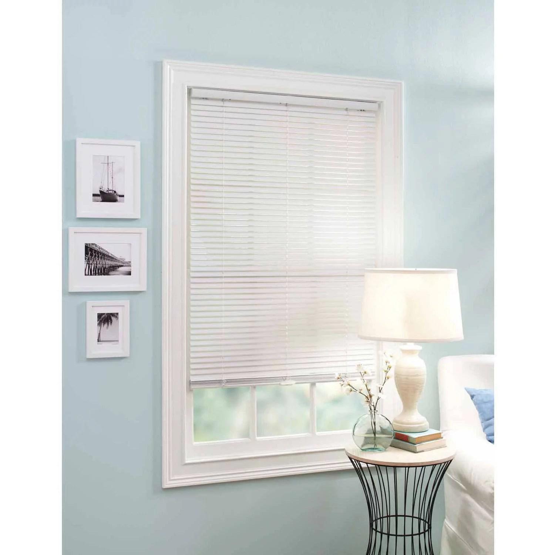 better homes and garden 1 vinyl cordless mini blind white walmart com