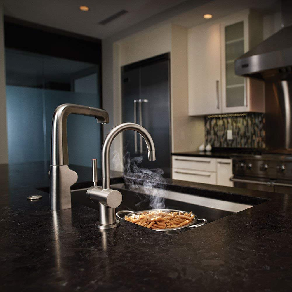 insinkerator indulge modern instant hot and cold water dispenser faucet chrome walmart com