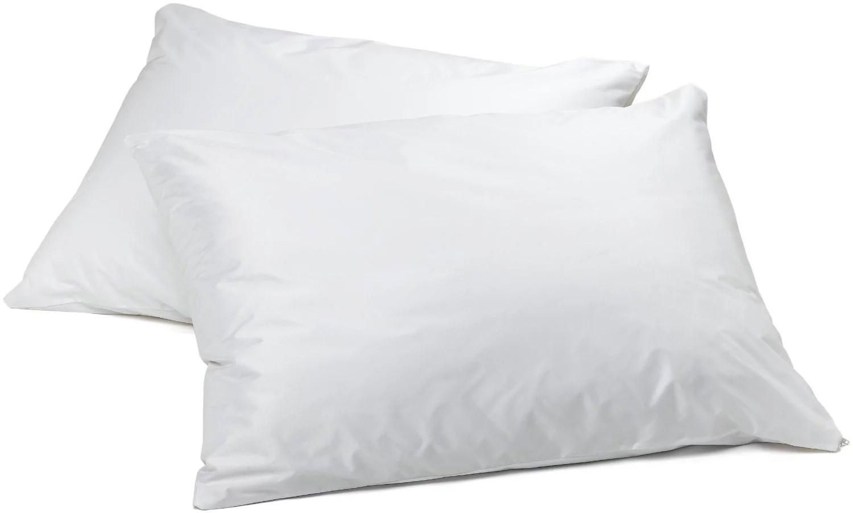 vinyl pillow protector with zipper 2 pillowcase walmart com