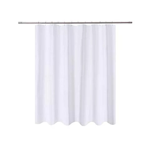 n y home short fabric shower curtain liner 72 x 65 shorter length hotel quality washable water repellent white bathroom curtains with grommets