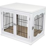 Internet S Best Double Door Wooden Wire Dog Crate Side Table White Small 32 L Walmart Com Walmart Com