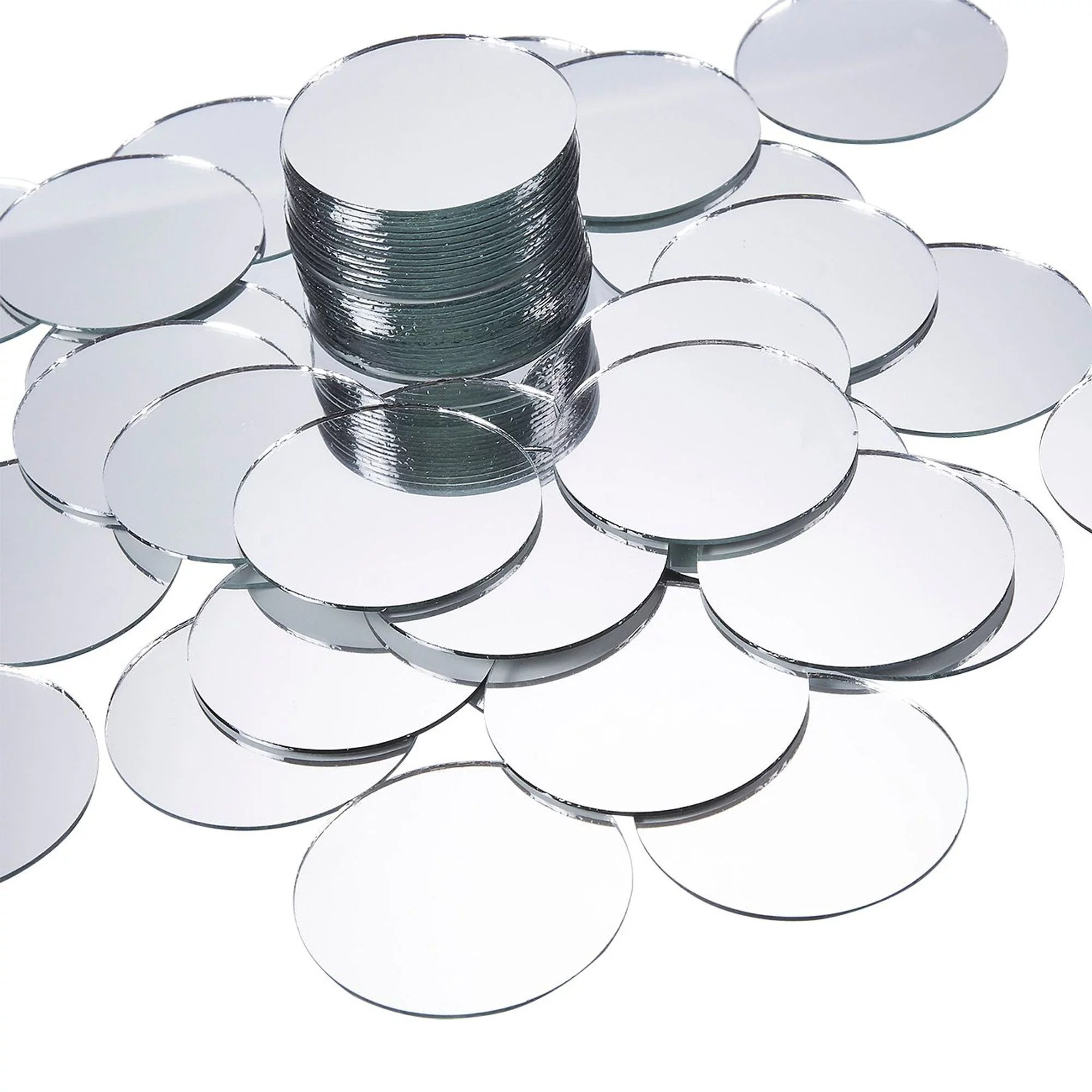 60 pack mini craft mirrors 2 inches circle round glass mosaic tile pieces small crafts mirror for home wall decoration crafts diy projects