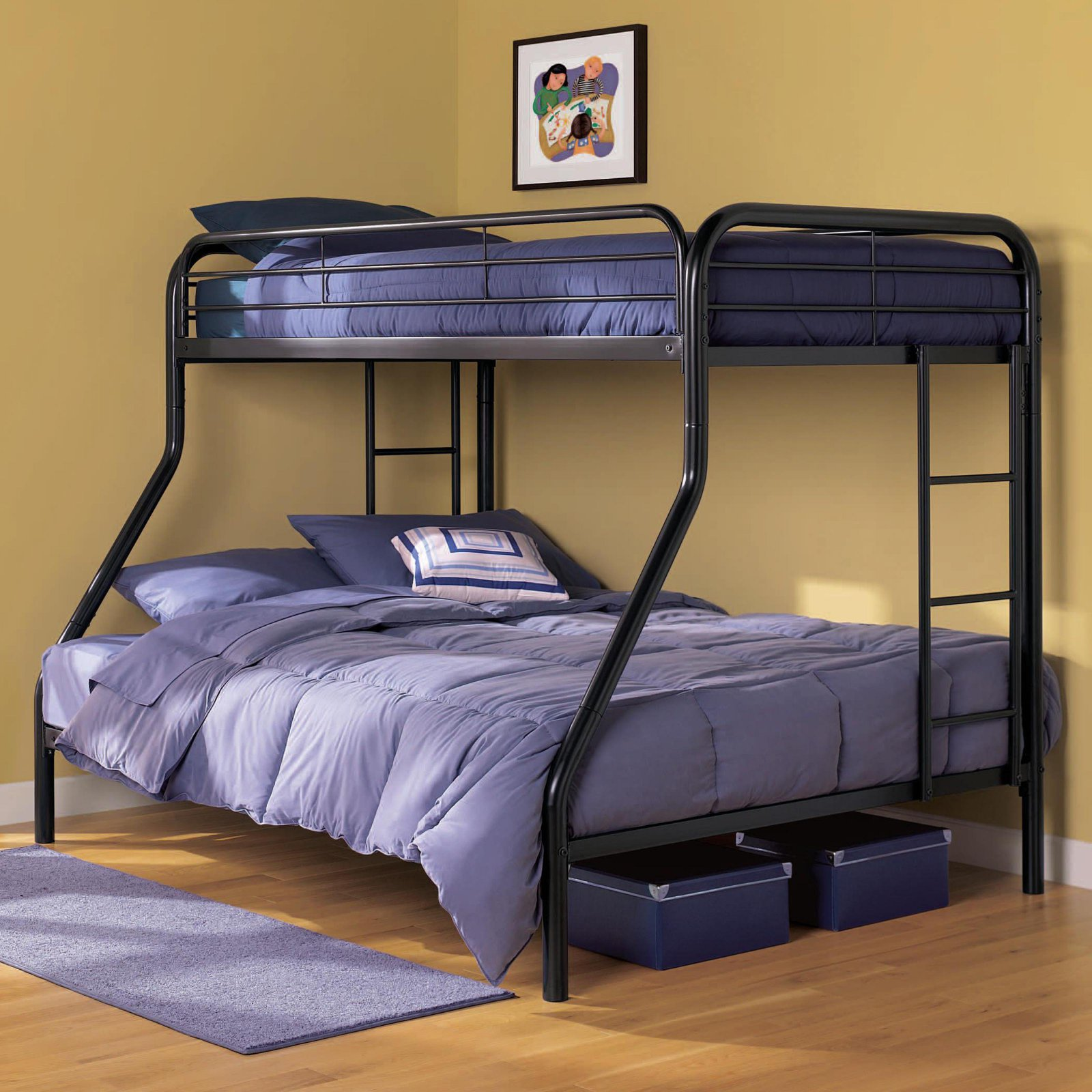 Dorel Twin Over Full Metal Bunk Bed Multiple Colors