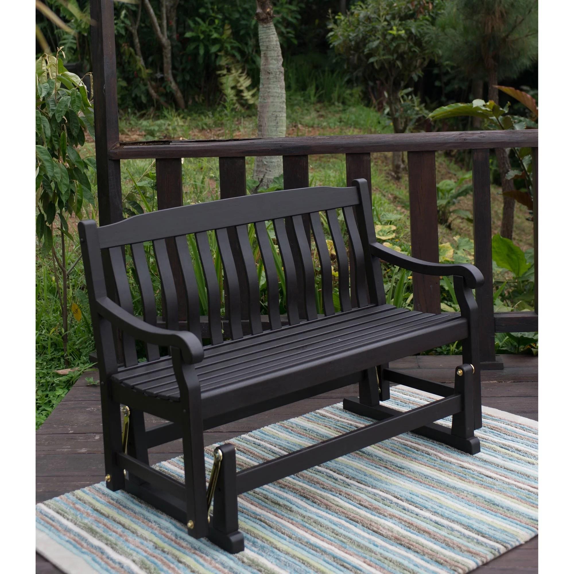 better homes gardens delahey outdoor glider bench dark brown