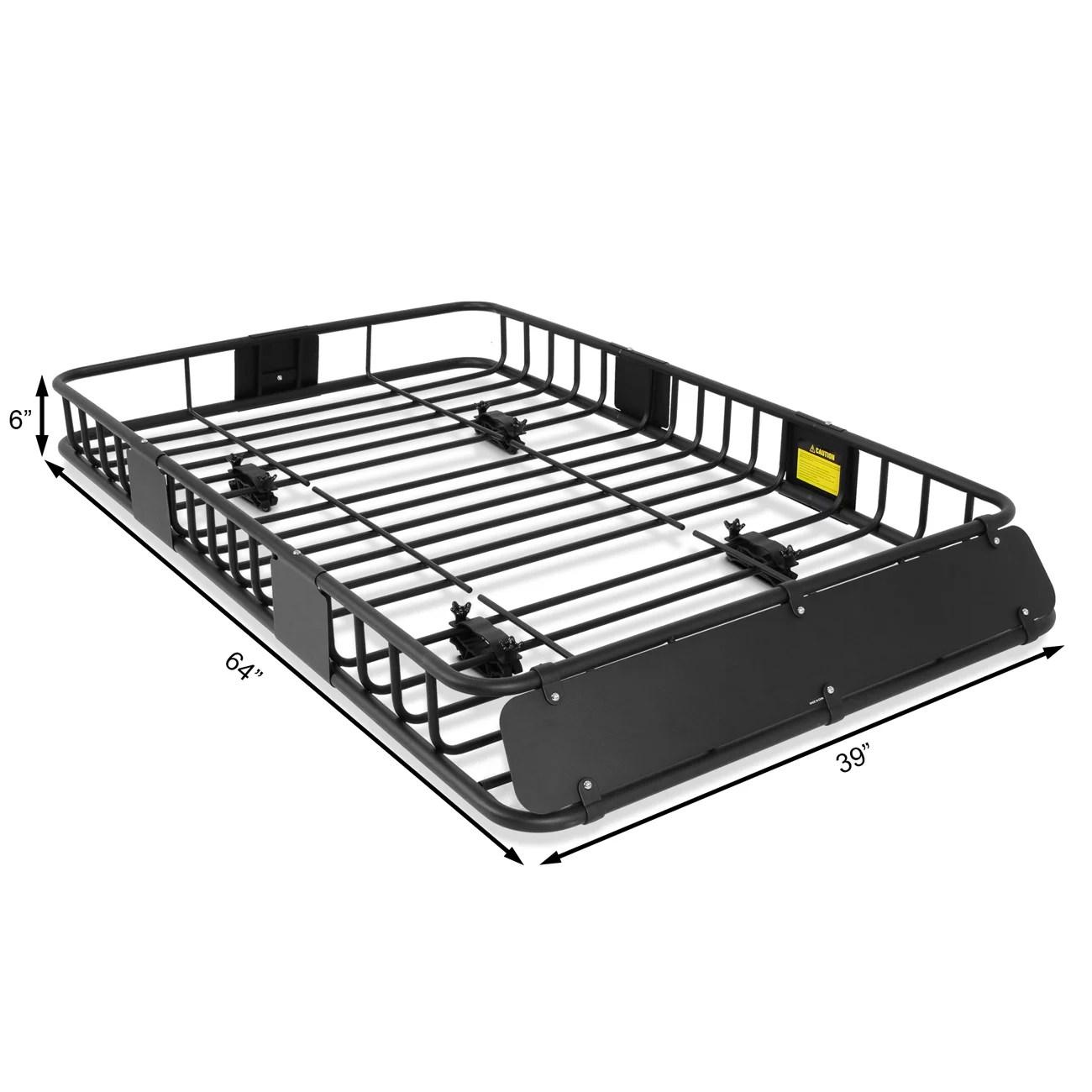 arksen 64 universal roof rack cargo extension with cargo net black