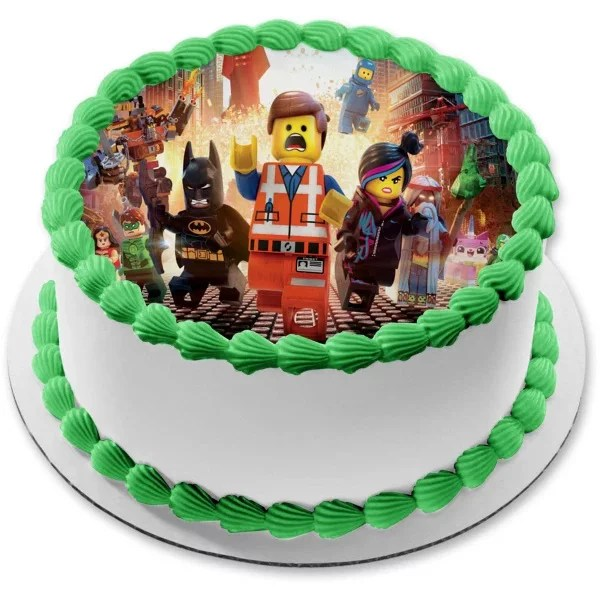 Lego Movie Image Photo Cake Topper Sheet Personalized Custom Customized Birthday Party 8 Round 75775 Walmart Com Walmart Com