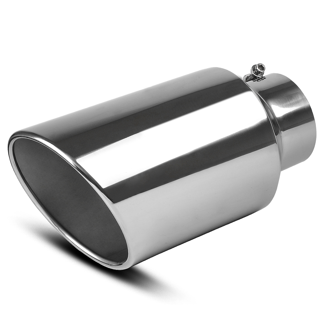 yitamotor exhaust tip 5 in x 8 out x 15 l chrome stainless steel tailpipe walmart com