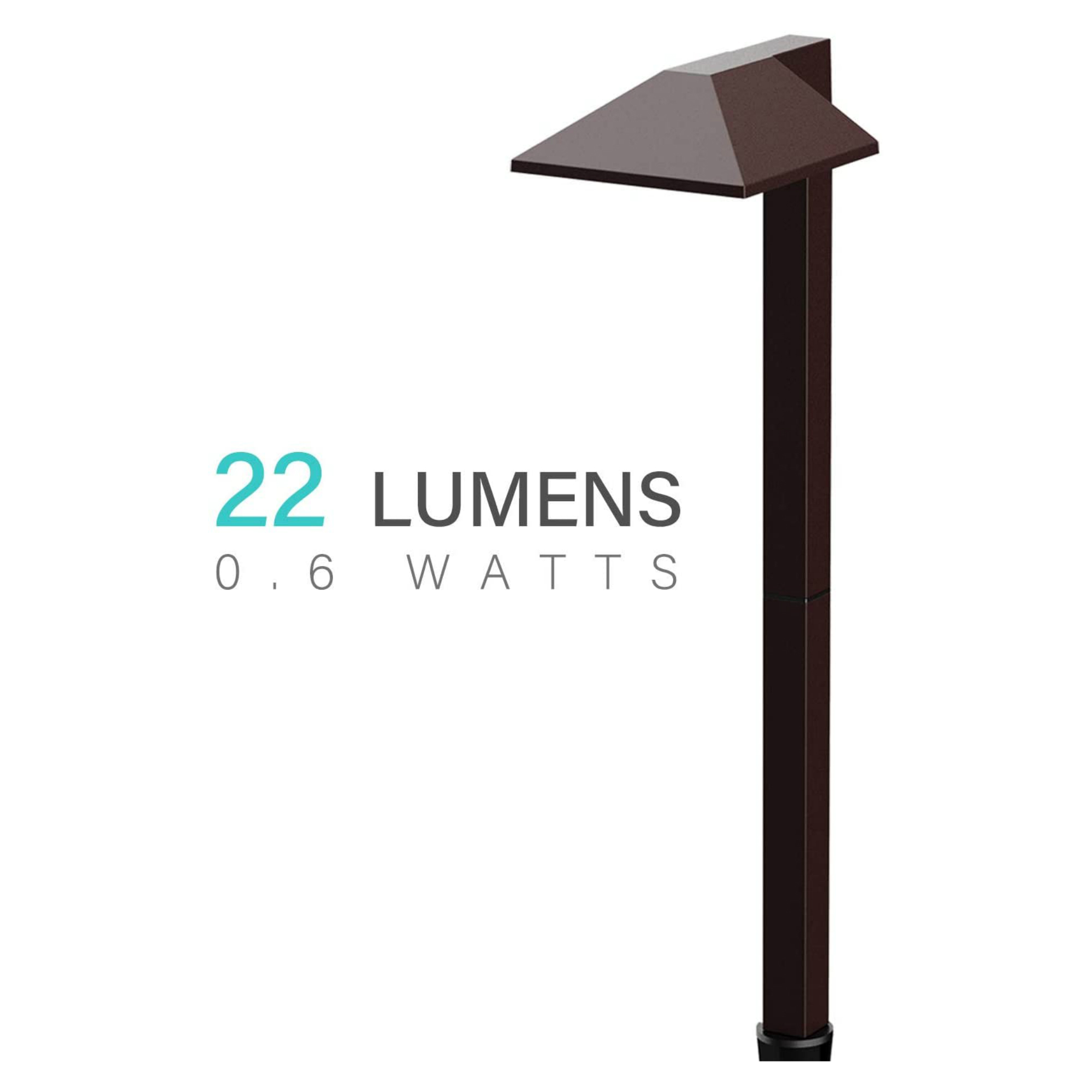 malibu c 0 6 watt led landscape lighting low voltage for garden pathway lawn charcoal brown walmart com