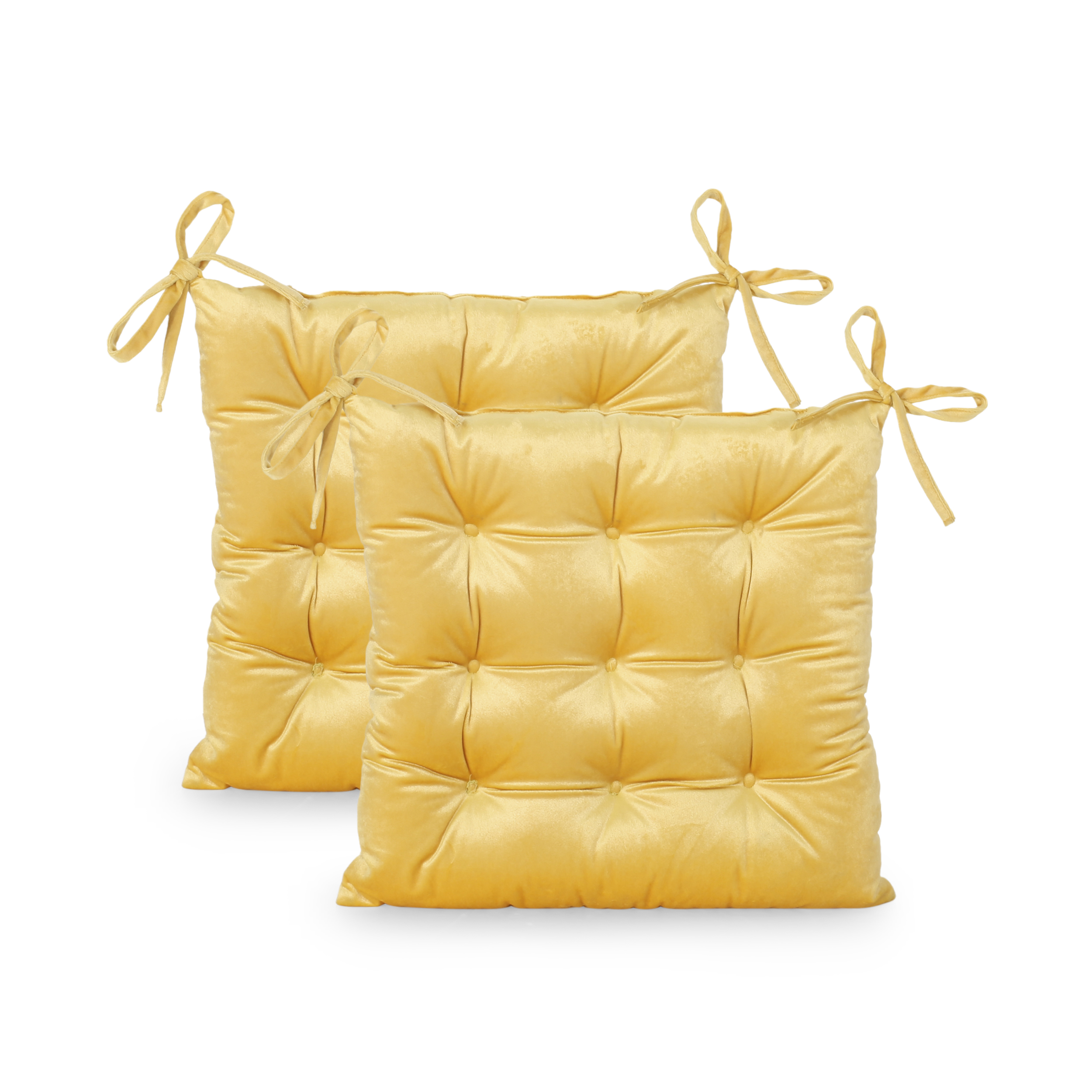 asma tufted velvet dining chair cushions set of 2 honey