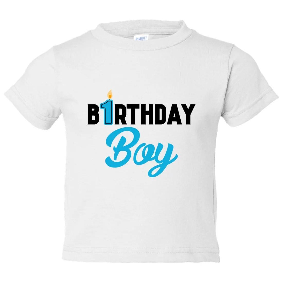 Funny Threadz Boys 1 Year Old Birthday Boy Toddler Shirt Birthday Candle Funny Threadz Kids White Medium 10 12 Youth Walmart Com Walmart Com