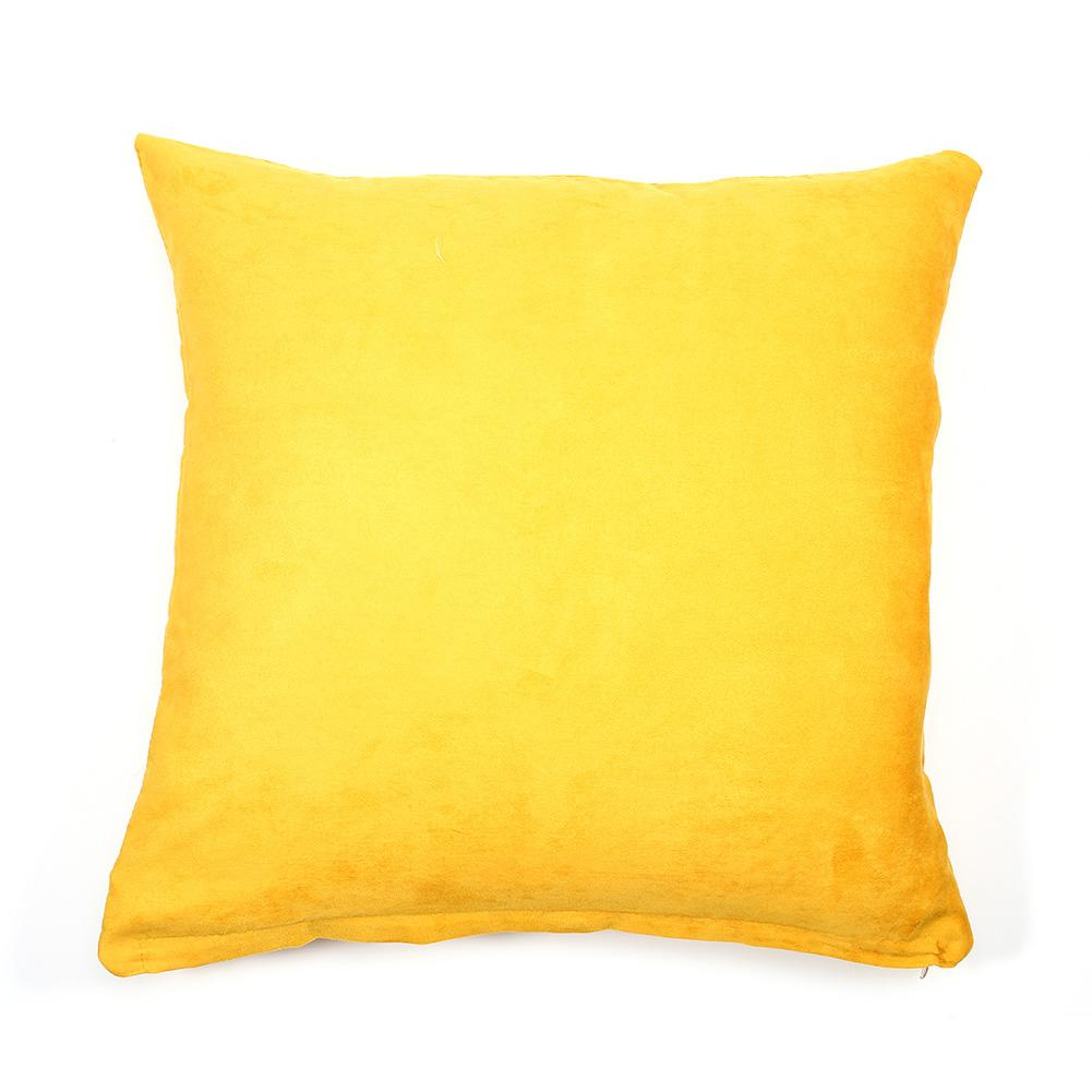 lv life solid color cotton canvas cushion cover home decor throw pillow case lounge yellow pillow cover sofa cushion cover