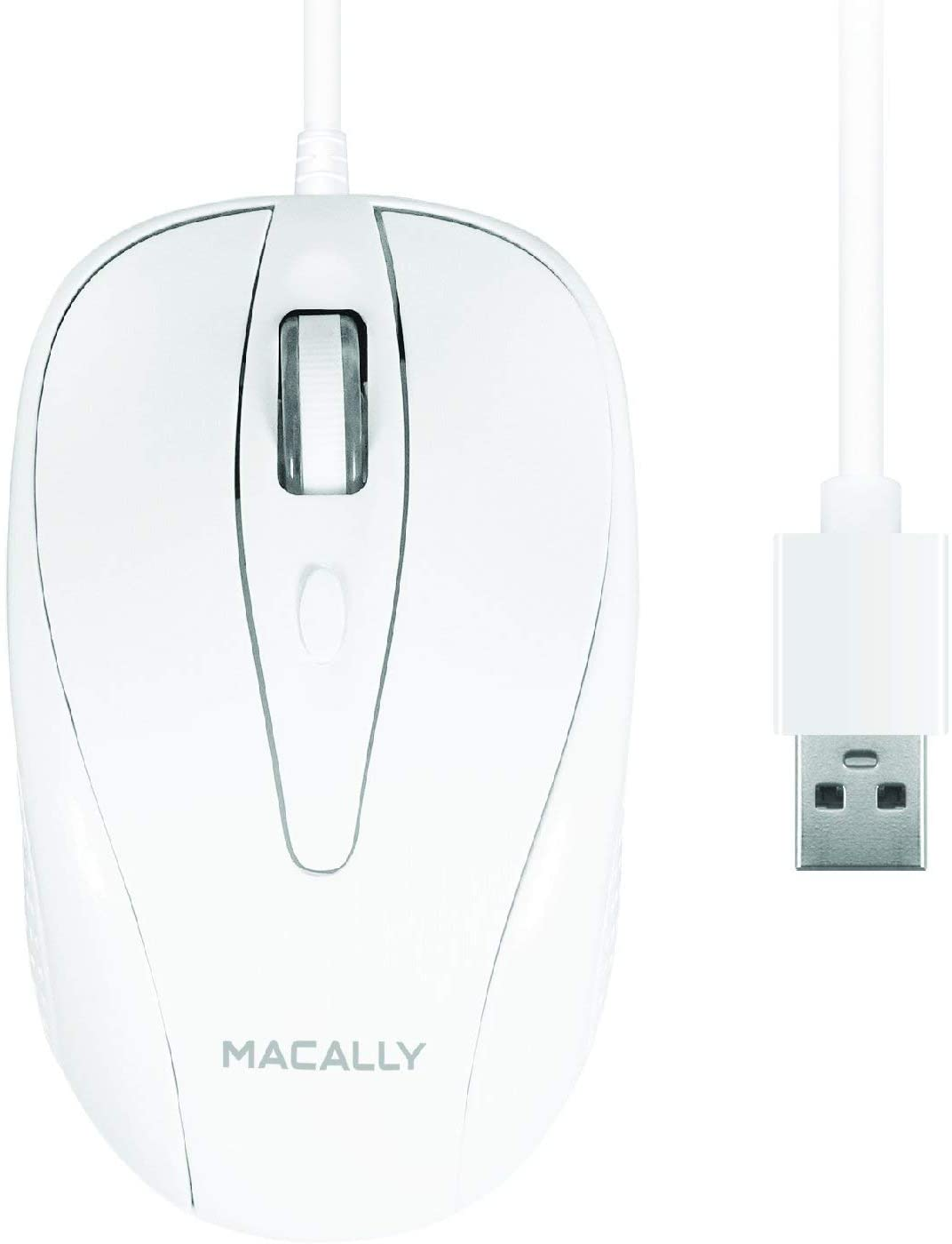 Macally Usb Wired Mouse With 3 Button Scroll Wheel Amp 5