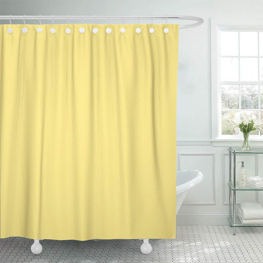 cynlon light yellow personalized trend color pale pastel blank bathroom decor bath shower curtain 66x72 inch walmart com