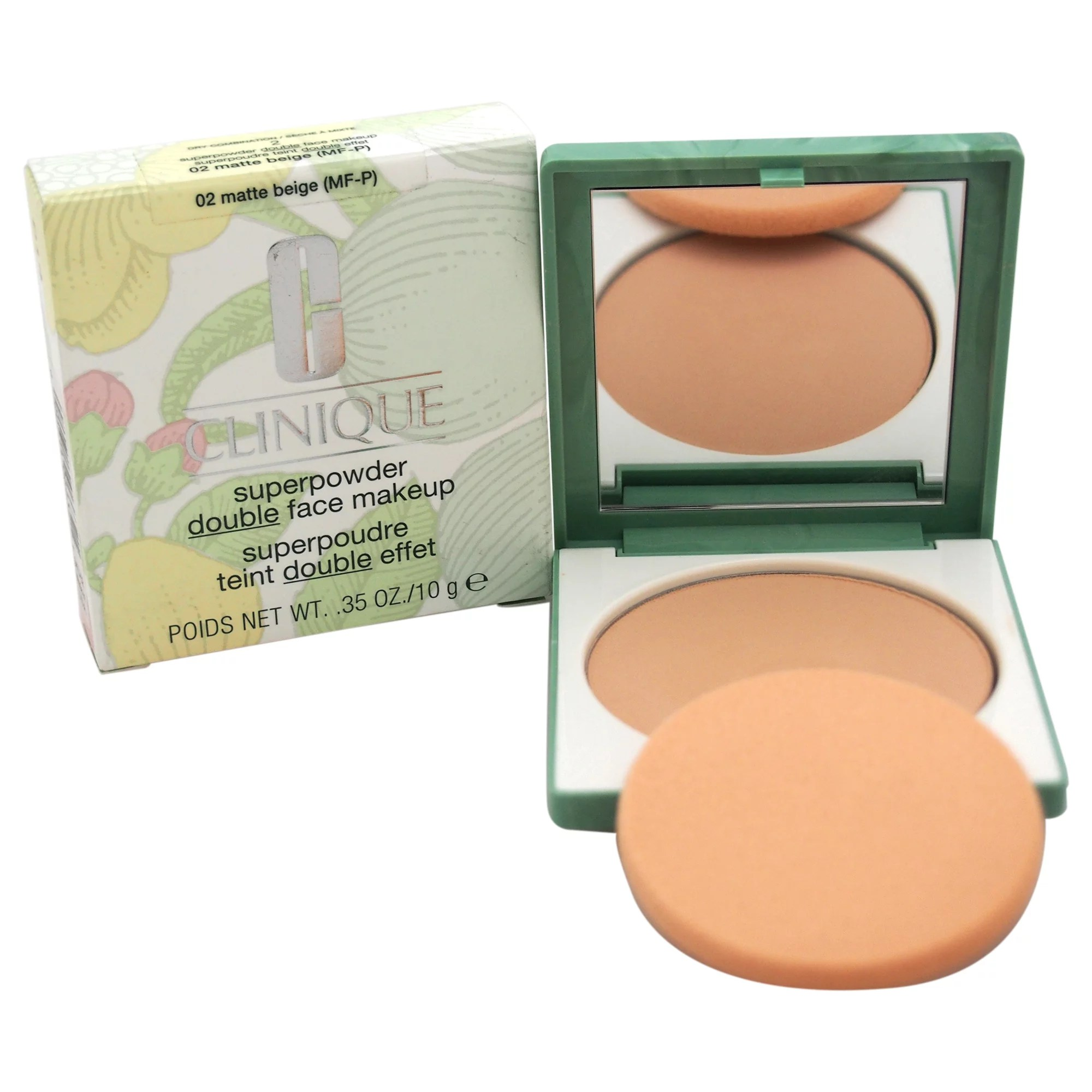 Superpowder Double Face Makeup – # 02 Matte Beige (MF-P)-Dry Combination by Clinique for Women – 0.3