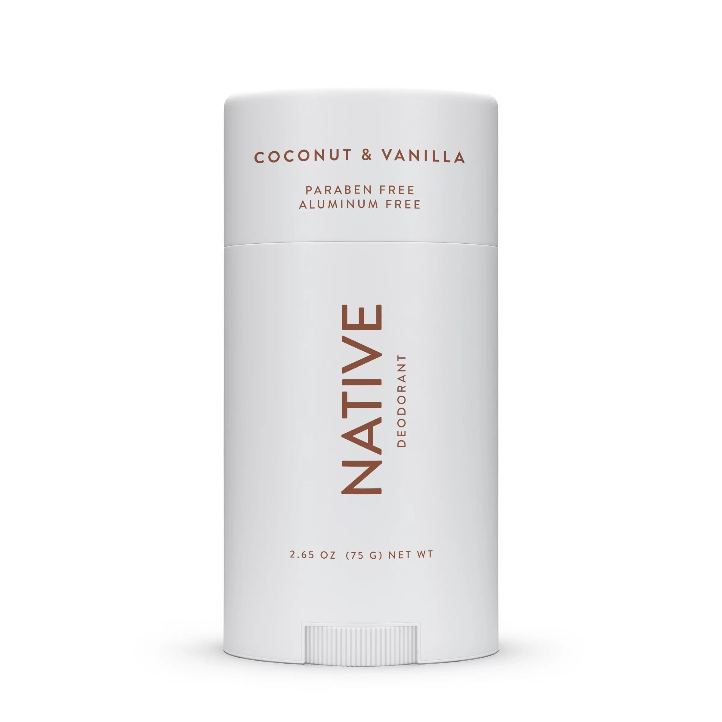 native natural deodorant coconut and vanilla aluminum free 2 65 oz walmart com