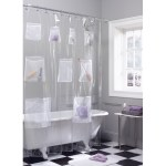 Zenna Home Mesh Pockets Peva Clear Storage Shower Curtain 72x70 Walmart Com Walmart Com