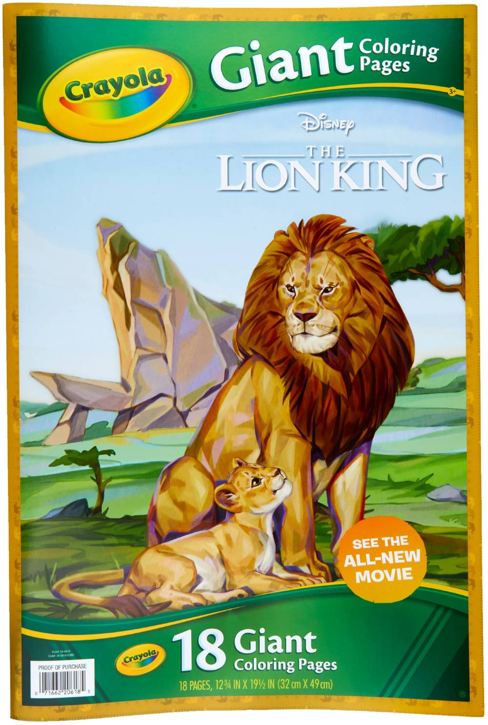 Crayola Giant Coloring Pages Featuring The Lion King Walmart Com Walmart Com