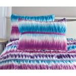 Your Zone Ruched Tie Dye Comforter Set 1 Each Walmart Com Walmart Com