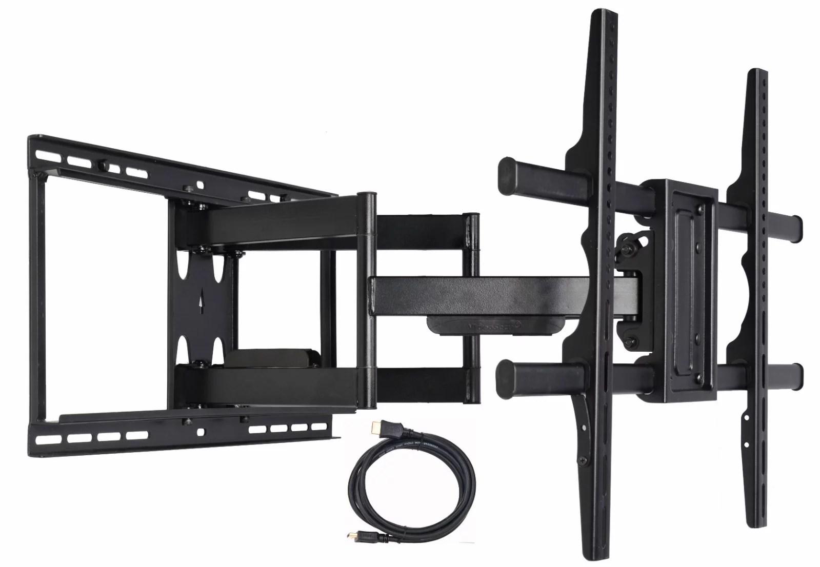 videosecu articulating full motion tv wall mount for lg 55 60 65 75 86 inch led lcd plasma hdtv 60uj6300 60uj6540 65uh6030 65uh6150 75sj8570 75uh8500