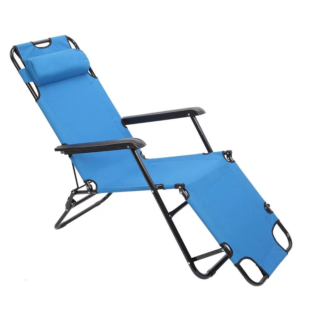 zimtown folding chaise lounge chair patio outdoor pool beach lawn recliner reclining
